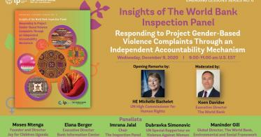 Embedded thumbnail for Emerging Lessons Series No. 6-Insights of the World Bank Inspection Panel: Responding to Project Gender-Based Violence Complaints Through an Independent Accountability Mechanism